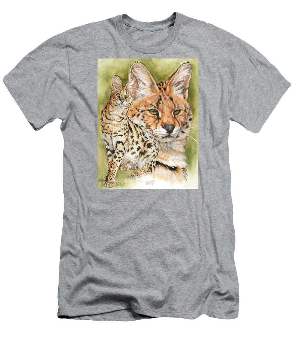 Serval Men's T-Shirt (Athletic Fit) featuring the mixed media Tempo by Barbara Keith