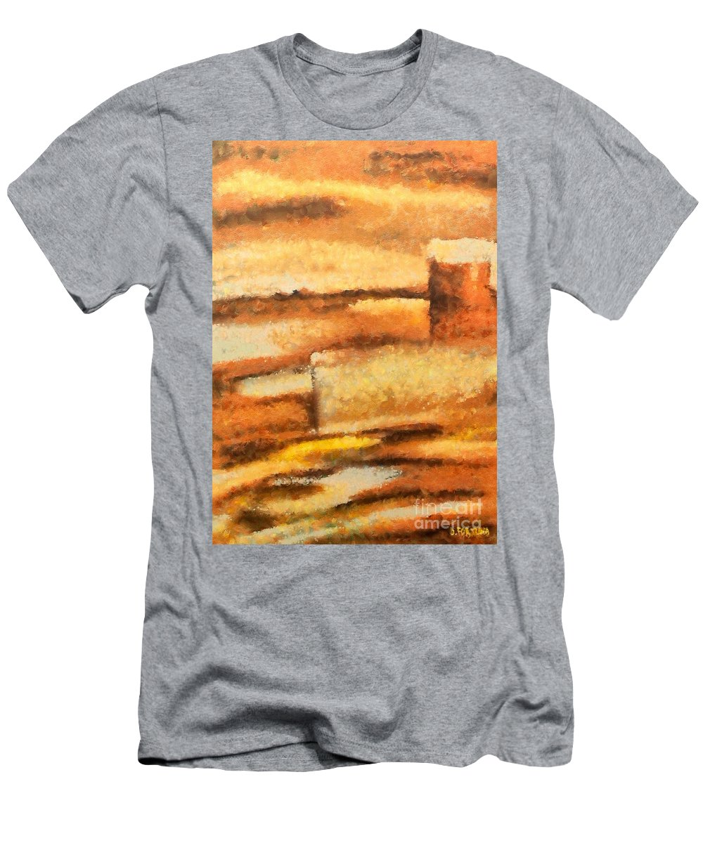 Mixed Media Men's T-Shirt (Athletic Fit) featuring the mixed media Terra Rossa by Dragica Micki Fortuna
