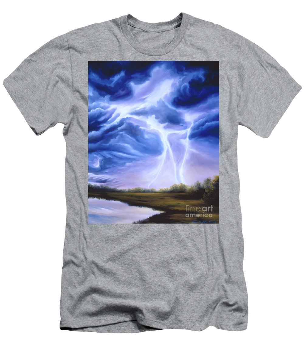 Marsh Men's T-Shirt (Athletic Fit) featuring the painting Tesla by James Christopher Hill