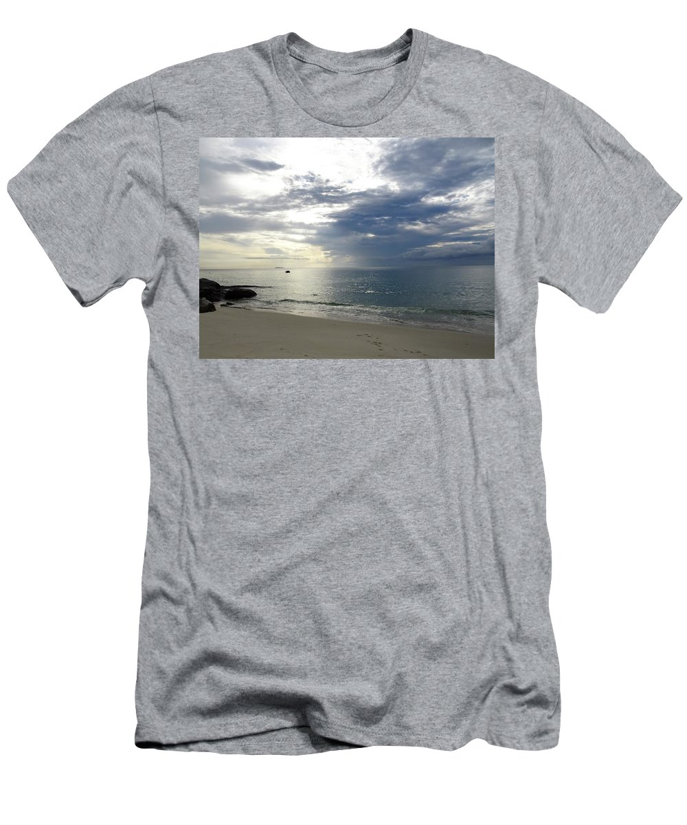 Beach Men's T-Shirt (Athletic Fit) featuring the photograph Thai Beach by Michael Brown