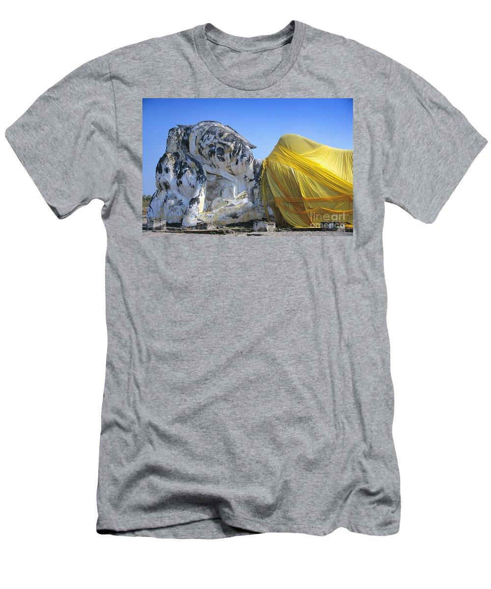 Ancient Men's T-Shirt (Athletic Fit) featuring the photograph Thailand, Ayathaya by Gloria & Richard Maschmeyer - Printscapes