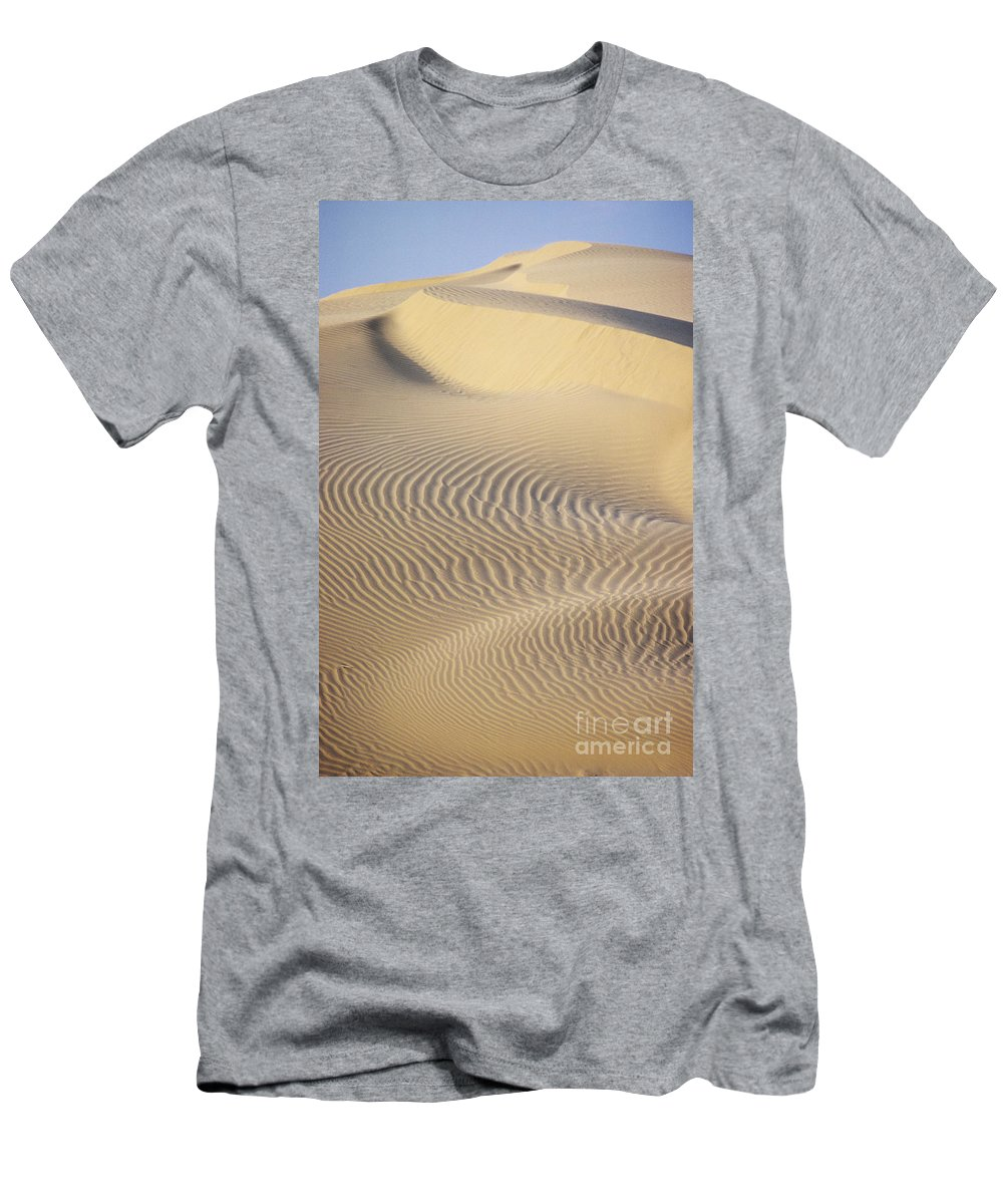 Asian Art Men's T-Shirt (Athletic Fit) featuring the photograph Thar Desert Dunes by Gloria & Richard Maschmeyer - Printscapes