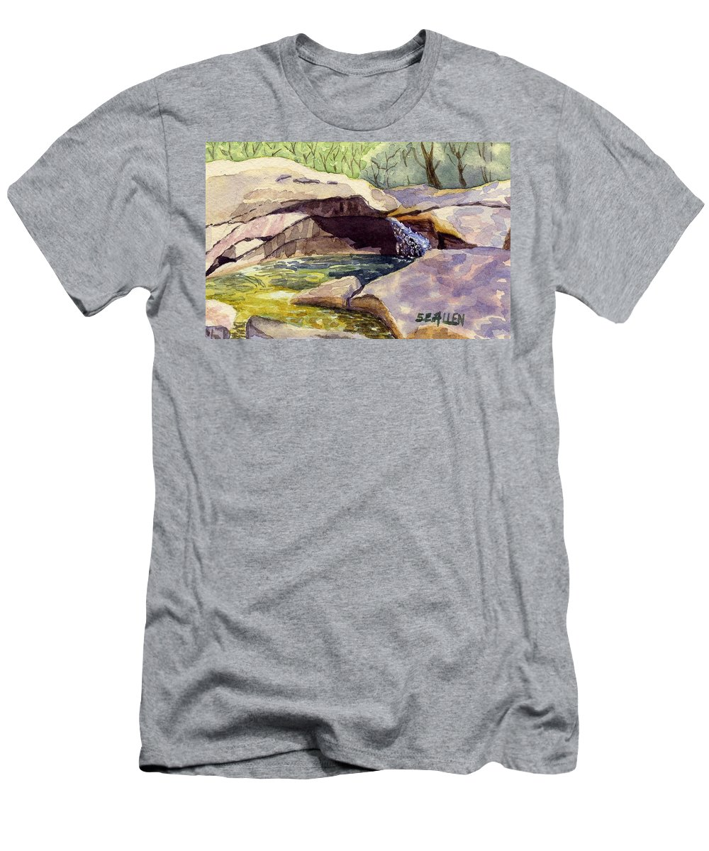 The Basin Men's T-Shirt (Athletic Fit) featuring the painting The Basin by Sharon E Allen