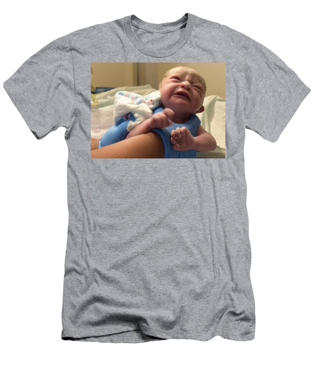 Baby Men's T-Shirt (Athletic Fit) featuring the photograph The Birthday by Marnie Malone