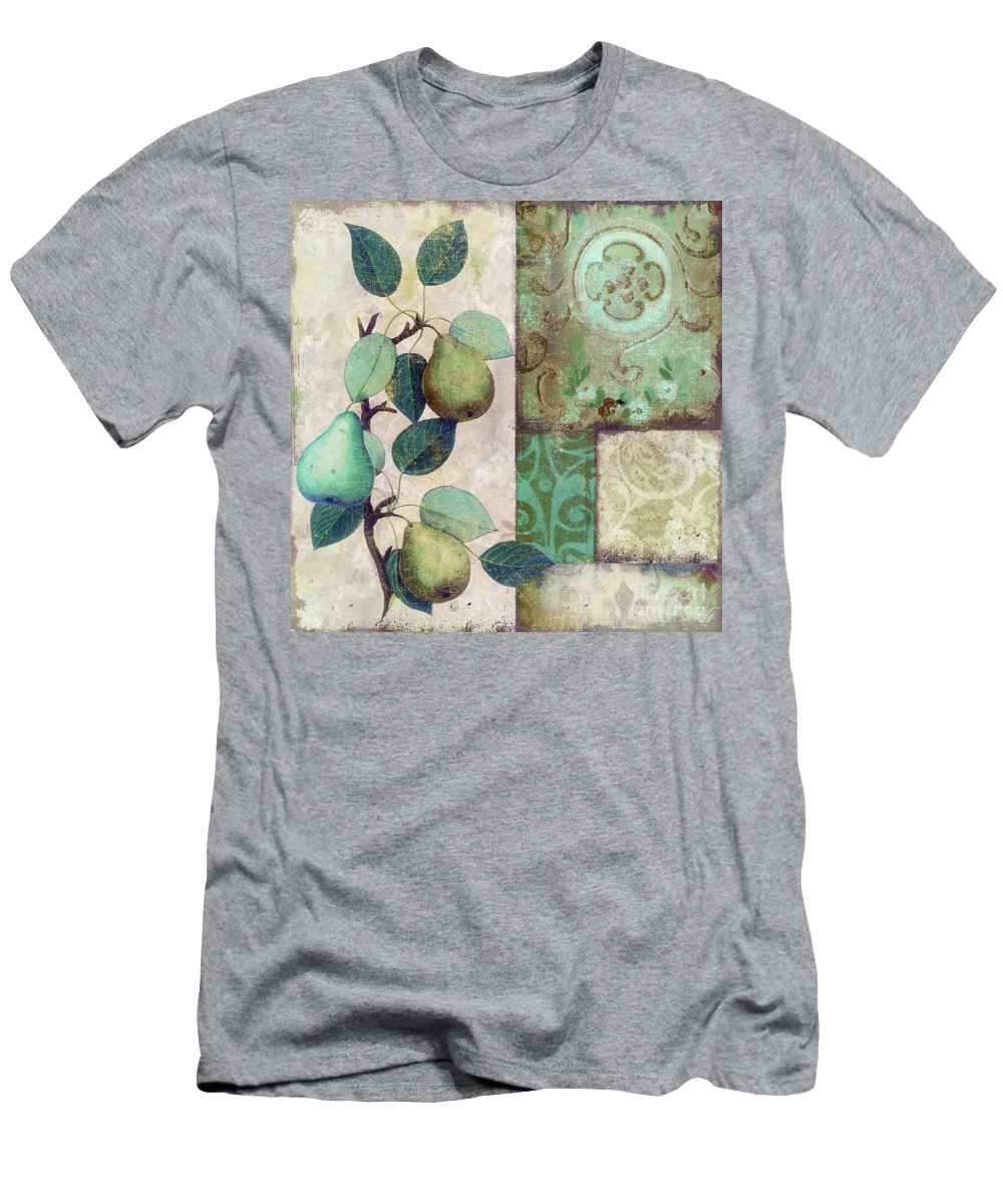 Pear Men's T-Shirt (Athletic Fit) featuring the painting The Blue Pear by Mindy Sommers