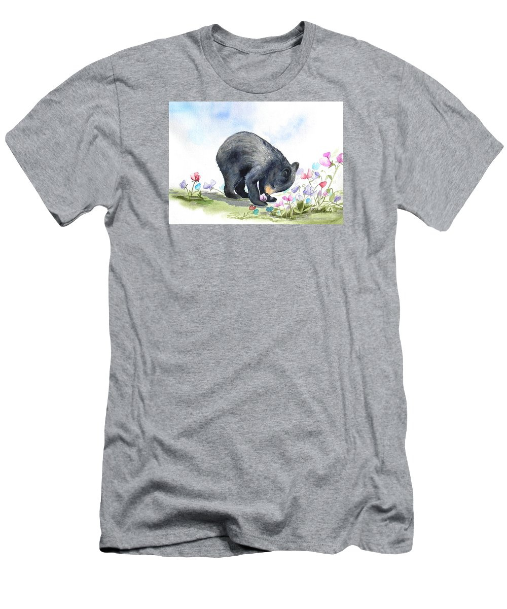 Bear Men's T-Shirt (Athletic Fit) featuring the painting The Botanist by Marsha Karle