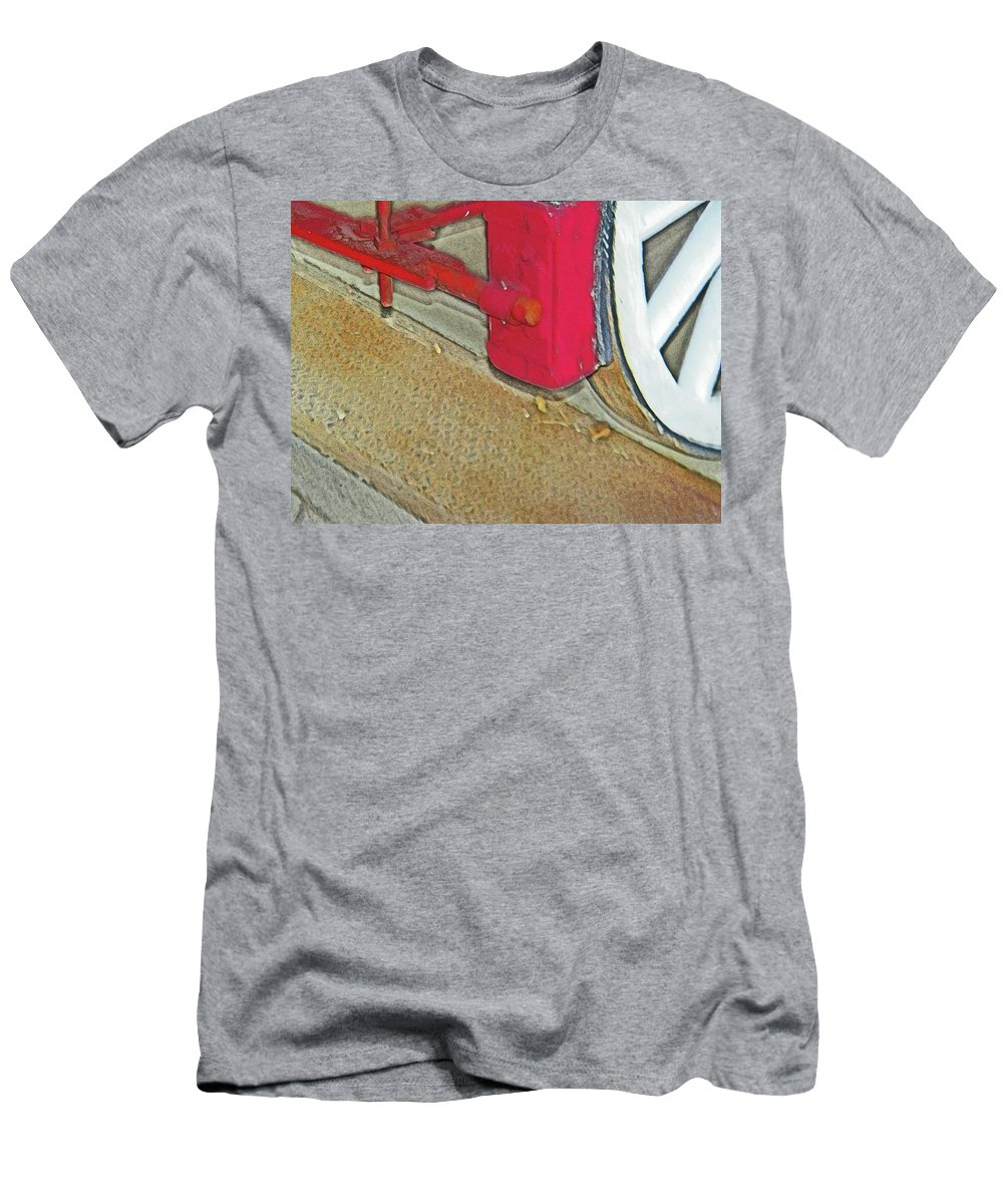 Abstract Men's T-Shirt (Athletic Fit) featuring the photograph The Brake by Lenore Senior