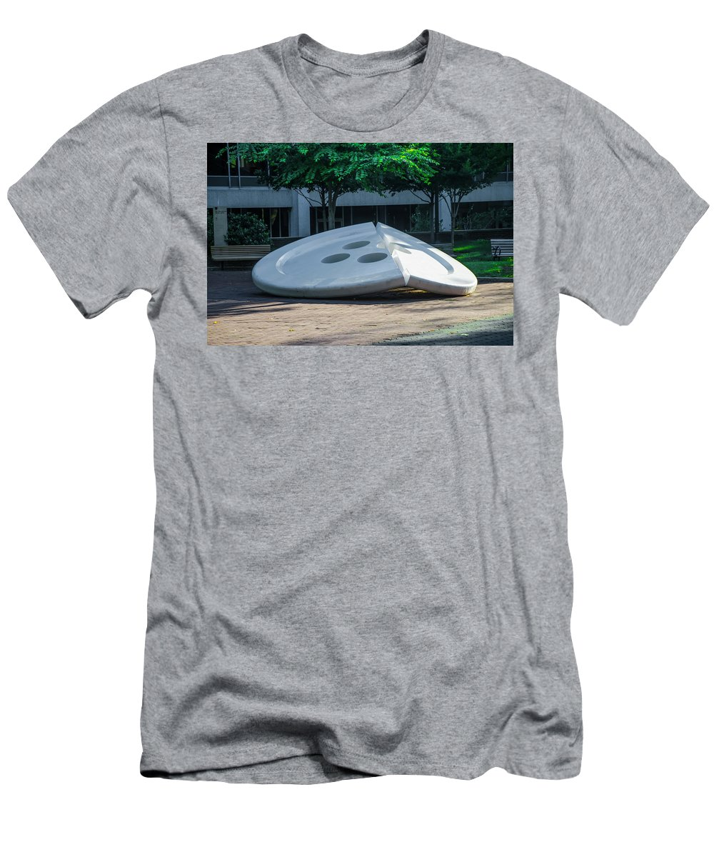 The Men's T-Shirt (Athletic Fit) featuring the photograph The Broken Button - University Of Pennsylvania by Bill Cannon