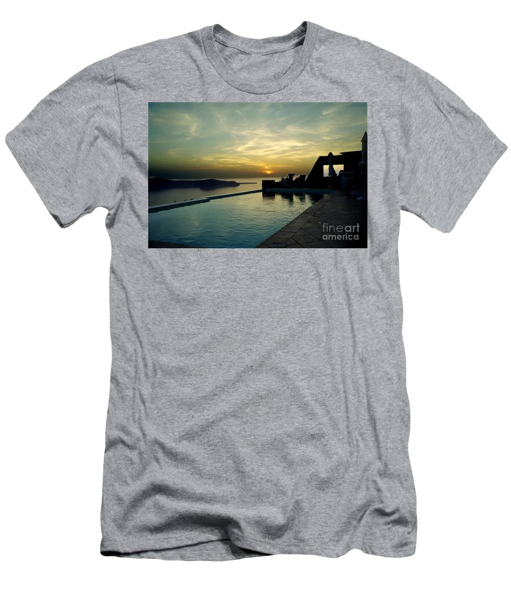 Caldera T-Shirt featuring the photograph The Caldera View In Santorini by Madeline Ellis