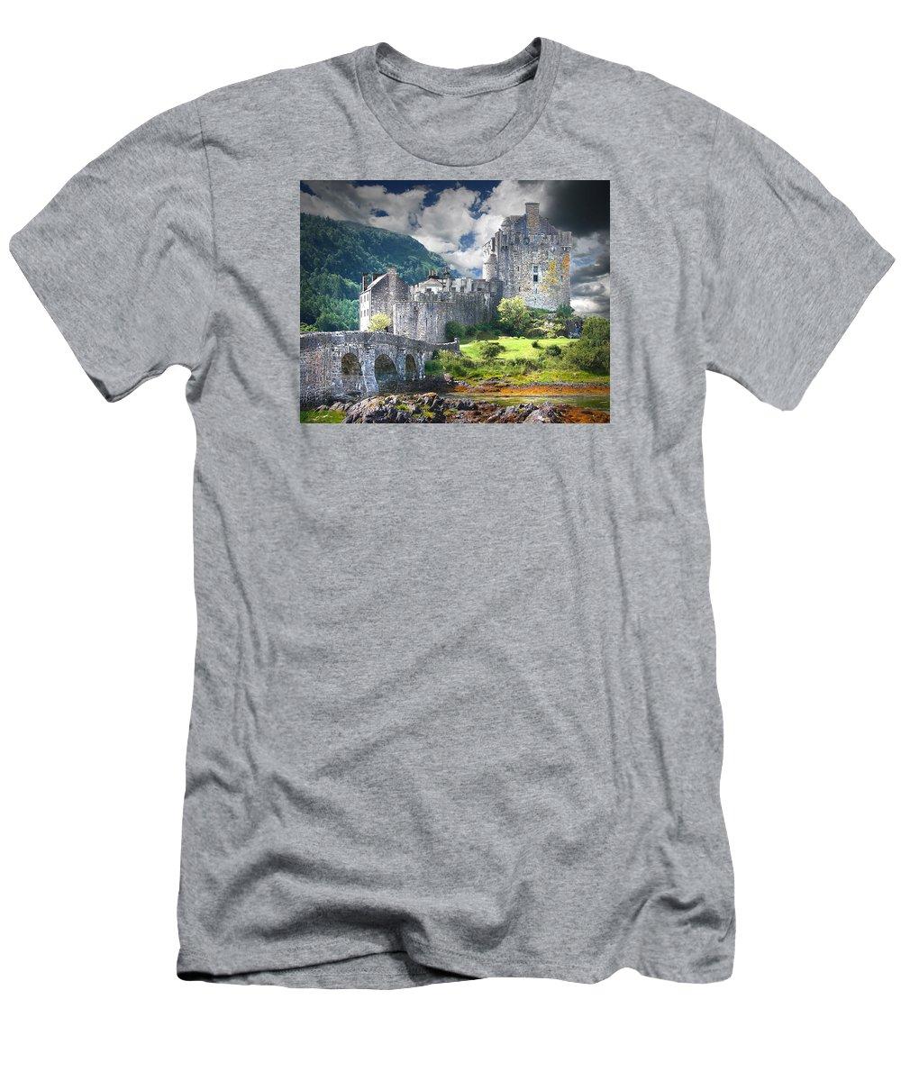 Castle Men's T-Shirt (Athletic Fit) featuring the digital art The Castle by Vicki Lea Eggen