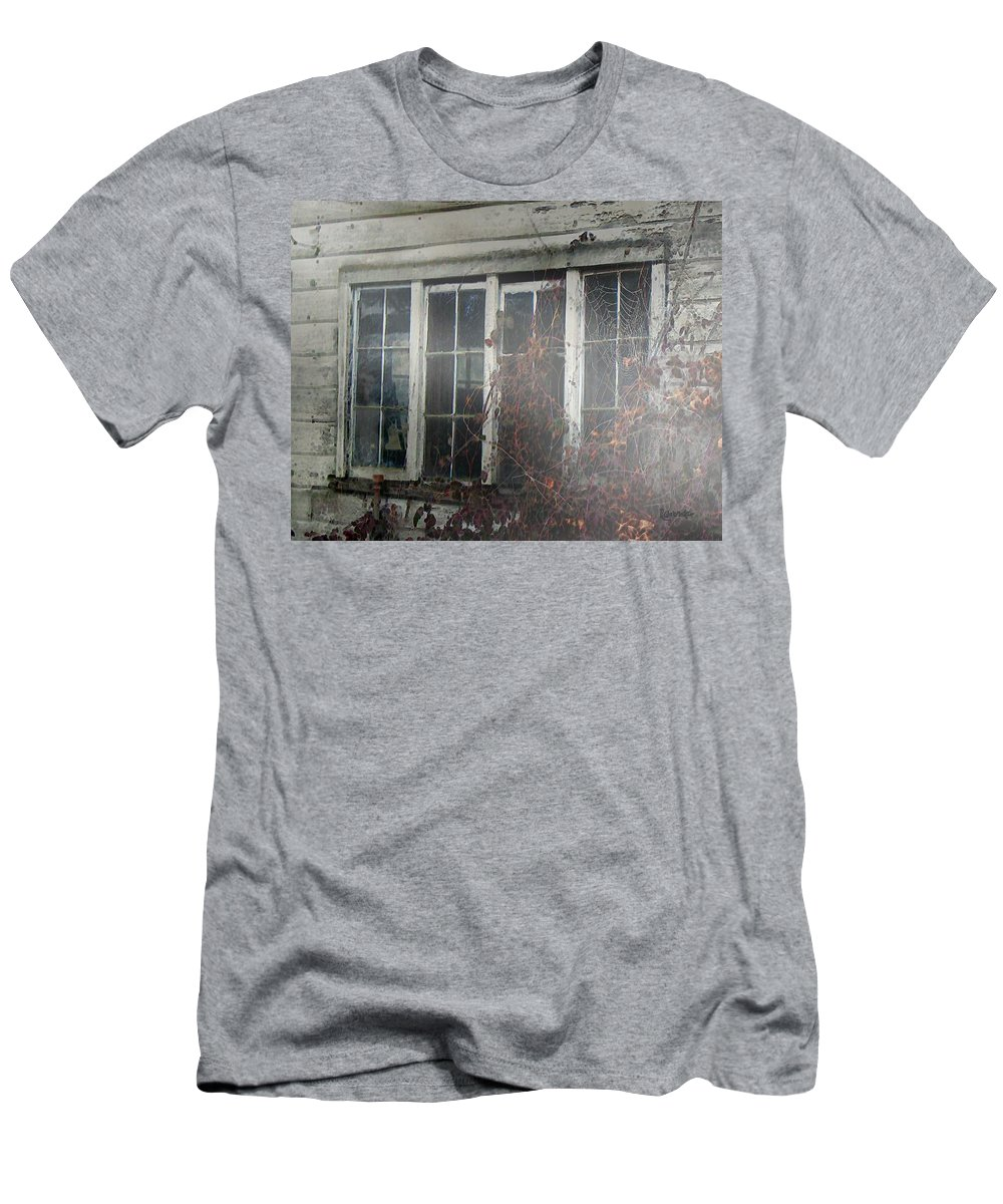 Boy Men's T-Shirt (Athletic Fit) featuring the painting The Child At The Window by RC deWinter