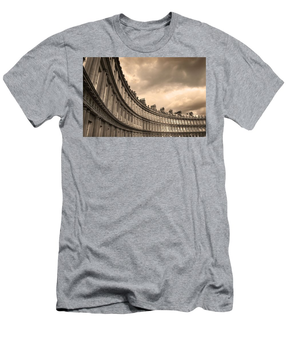 Bath Men's T-Shirt (Athletic Fit) featuring the photograph The Circus Bath England by Mal Bray