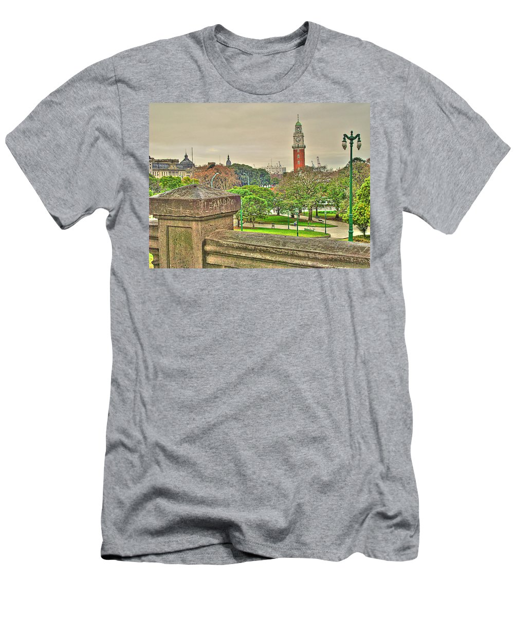 Clock Men's T-Shirt (Athletic Fit) featuring the photograph the Clock by Francisco Colon