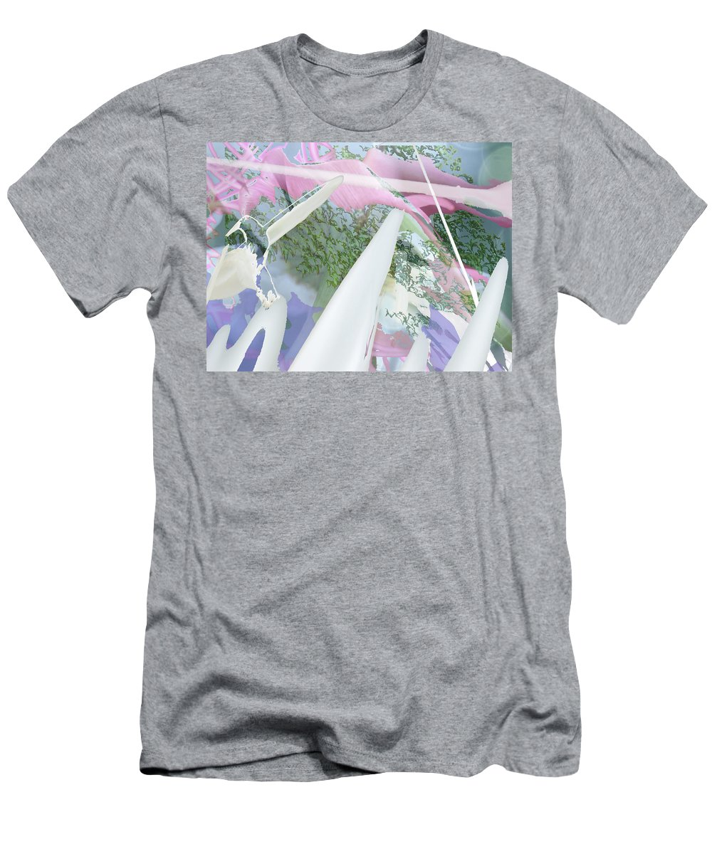 Abstract Men's T-Shirt (Athletic Fit) featuring the photograph The Clouds Were Pink by Lyn Perry