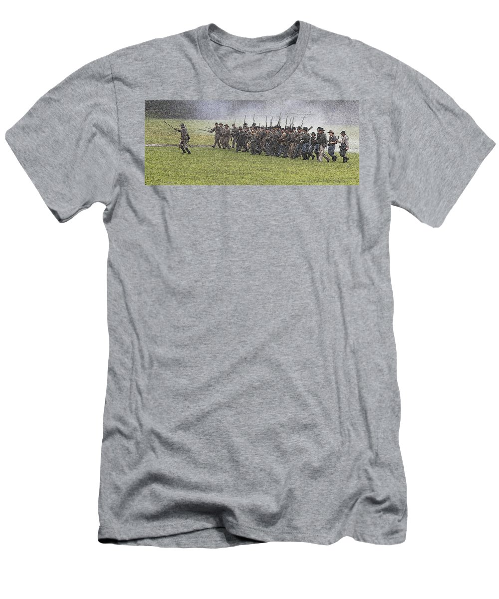 Civil War Men's T-Shirt (Athletic Fit) featuring the photograph The Conflict by Robert Pearson