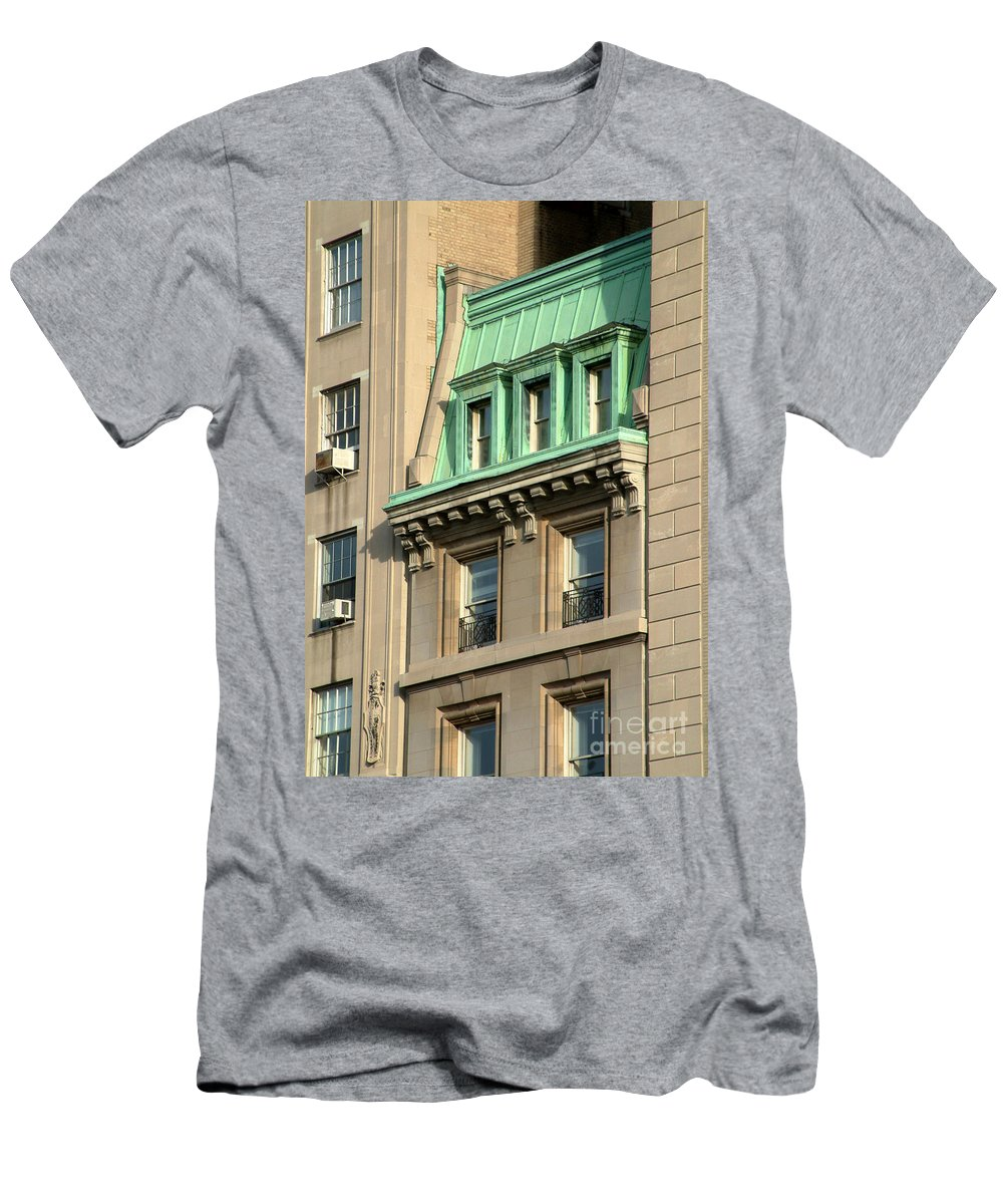 Apartments Men's T-Shirt (Athletic Fit) featuring the photograph The Copper Attic by RC DeWinter