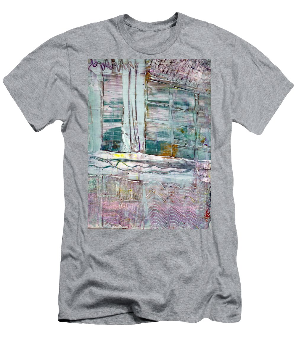 Abstract Men's T-Shirt (Athletic Fit) featuring the painting The Corner Window by Wayne Potrafka