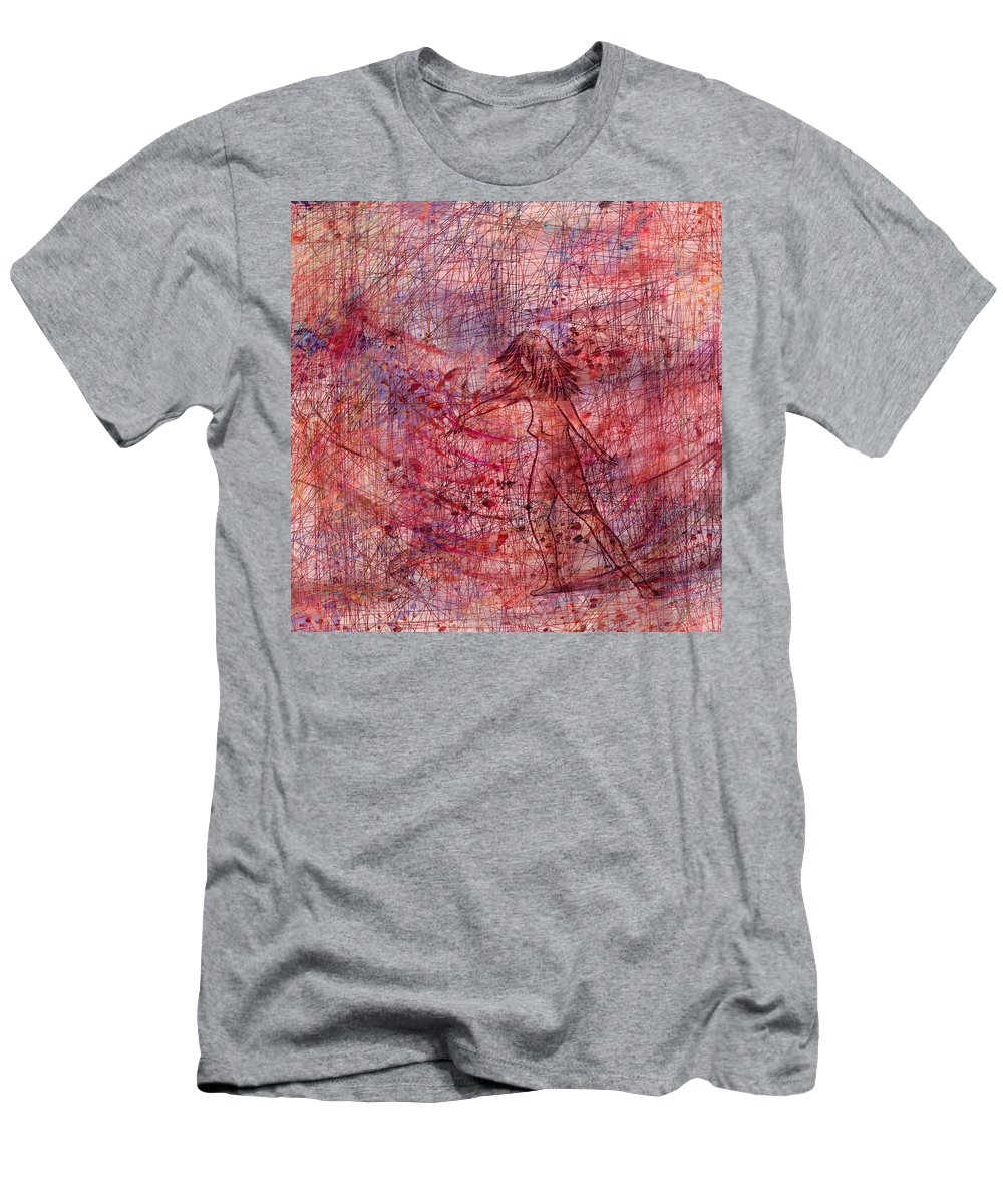 Abstract Men's T-Shirt (Athletic Fit) featuring the digital art The Dancer by Rachel Christine Nowicki