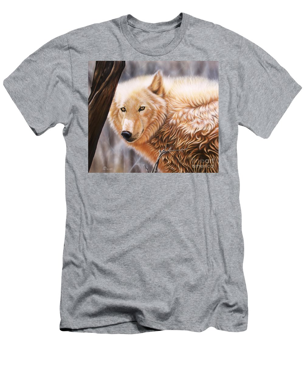 Acrylic Men's T-Shirt (Athletic Fit) featuring the painting The Daystar II by Sandi Baker