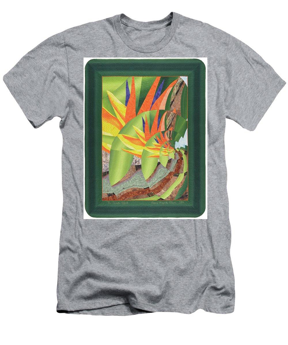Elaine Ellison Men's T-Shirt (Athletic Fit) featuring the tapestry - textile The Droste Effect by Elaine F Ellison