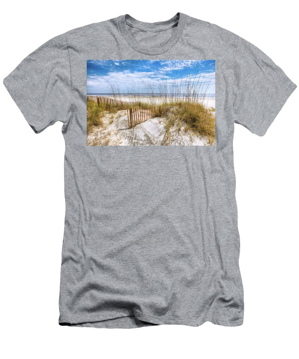 Clouds Men's T-Shirt (Athletic Fit) featuring the photograph The Dunes Special by Debra and Dave Vanderlaan