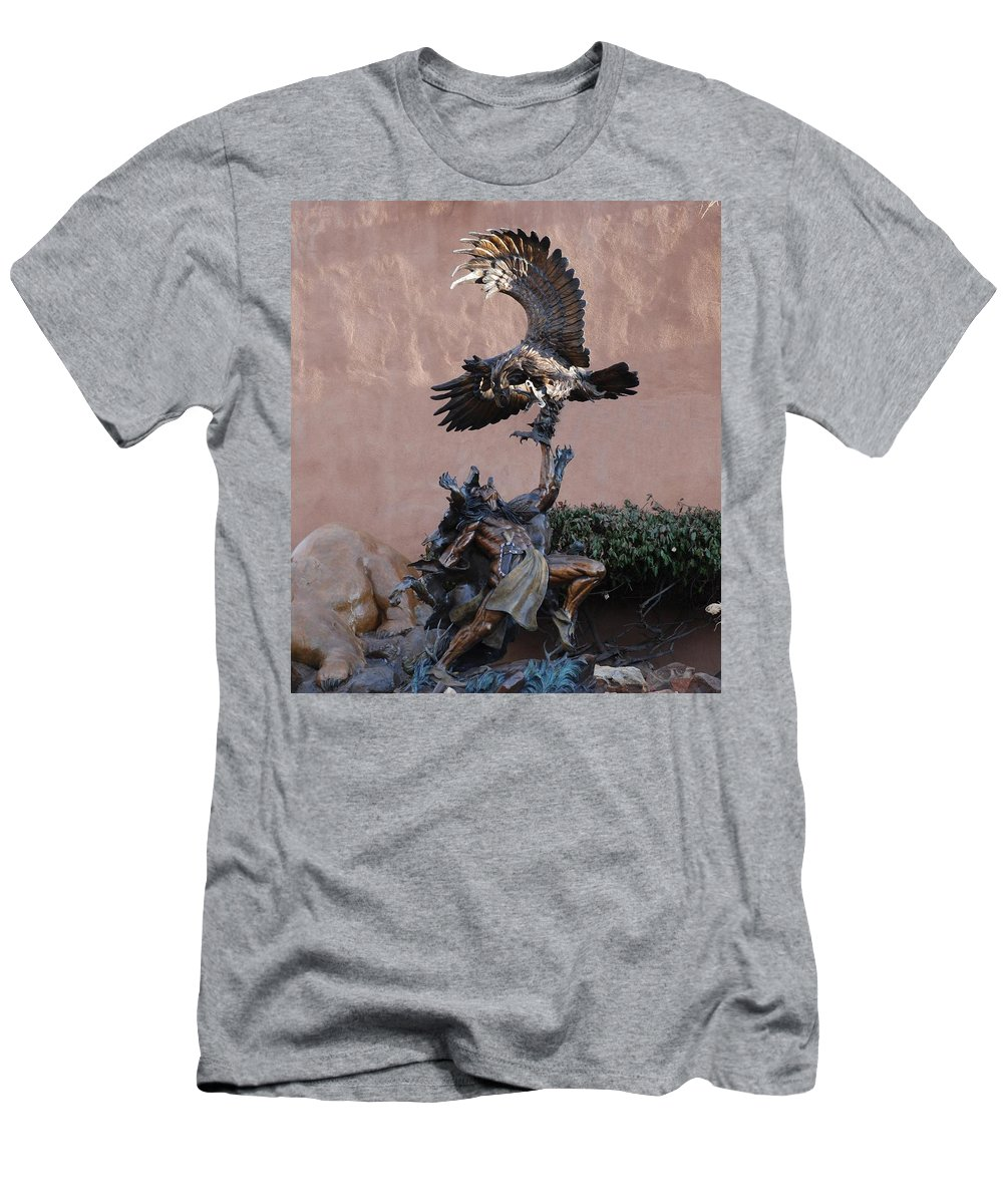 Eagle Men's T-Shirt (Athletic Fit) featuring the photograph The Eagle And The Indian by Rob Hans