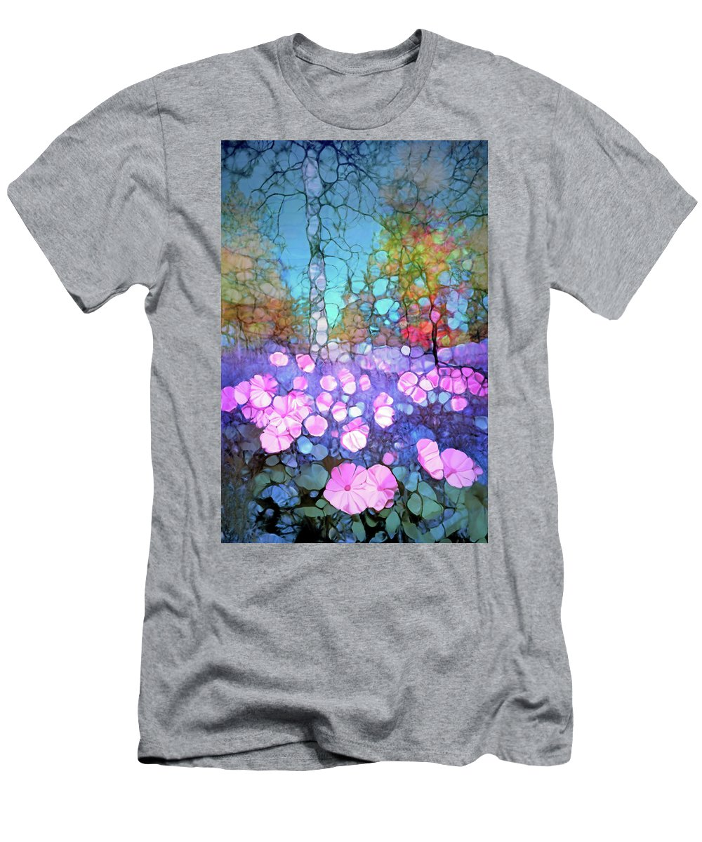 Light Men's T-Shirt (Athletic Fit) featuring the digital art The Forest Floor In Bloom by Tara Turner