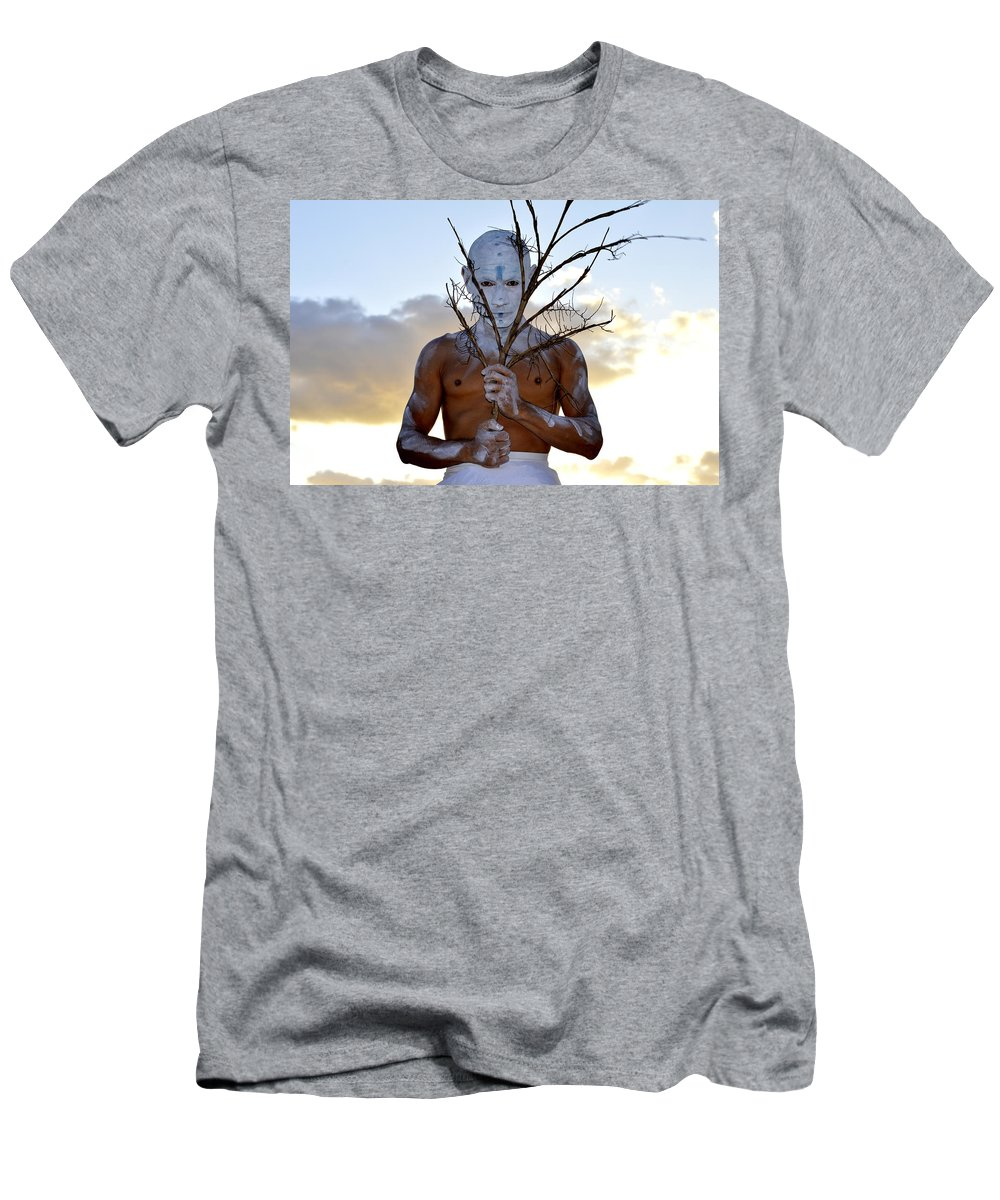 Men's T-Shirt (Athletic Fit) featuring the photograph The Gaze by Lenin Caraballo