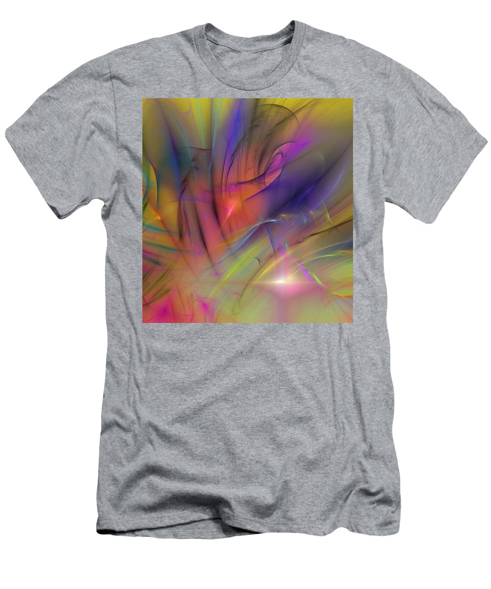 Abstract Men's T-Shirt (Athletic Fit) featuring the digital art The Gloaming by David Lane