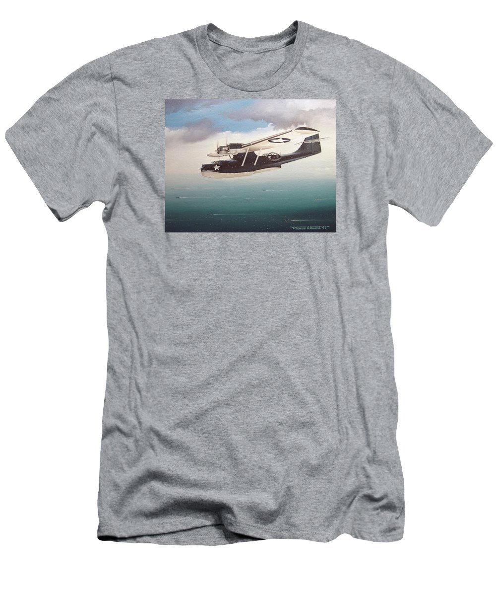 Painting Men's T-Shirt (Athletic Fit) featuring the painting The Good Shepherd by Marc Stewart