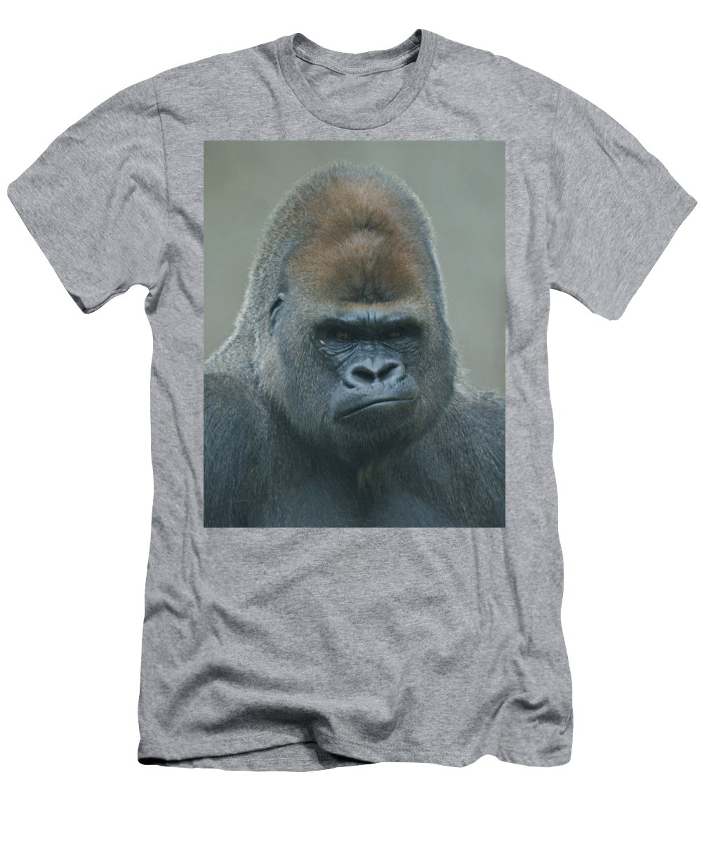 Animals Men's T-Shirt (Athletic Fit) featuring the photograph The Gorilla 4 by Ernie Echols