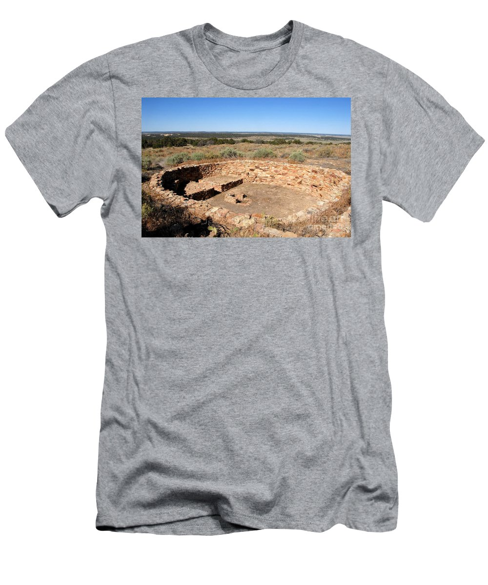 Great Kiva Men's T-Shirt (Athletic Fit) featuring the photograph The Great Kiva by David Lee Thompson