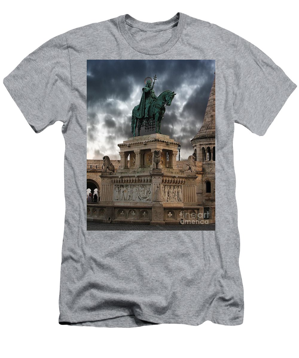Budapest Men's T-Shirt (Athletic Fit) featuring the photograph The Horseman by Don Kenworthy