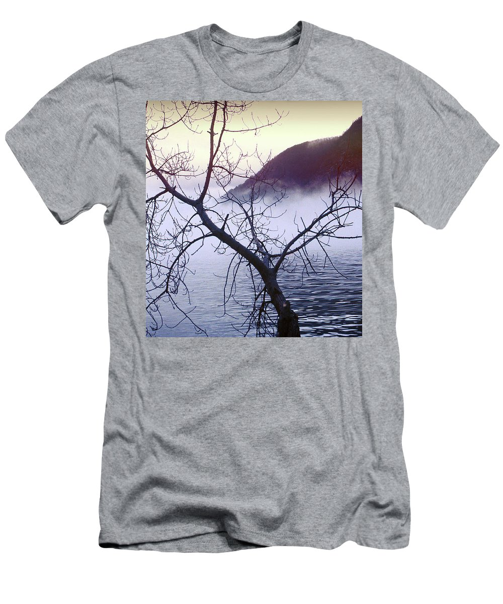 Hudson River Men's T-Shirt (Athletic Fit) featuring the photograph The Hudson Highlands by Yuri Lev