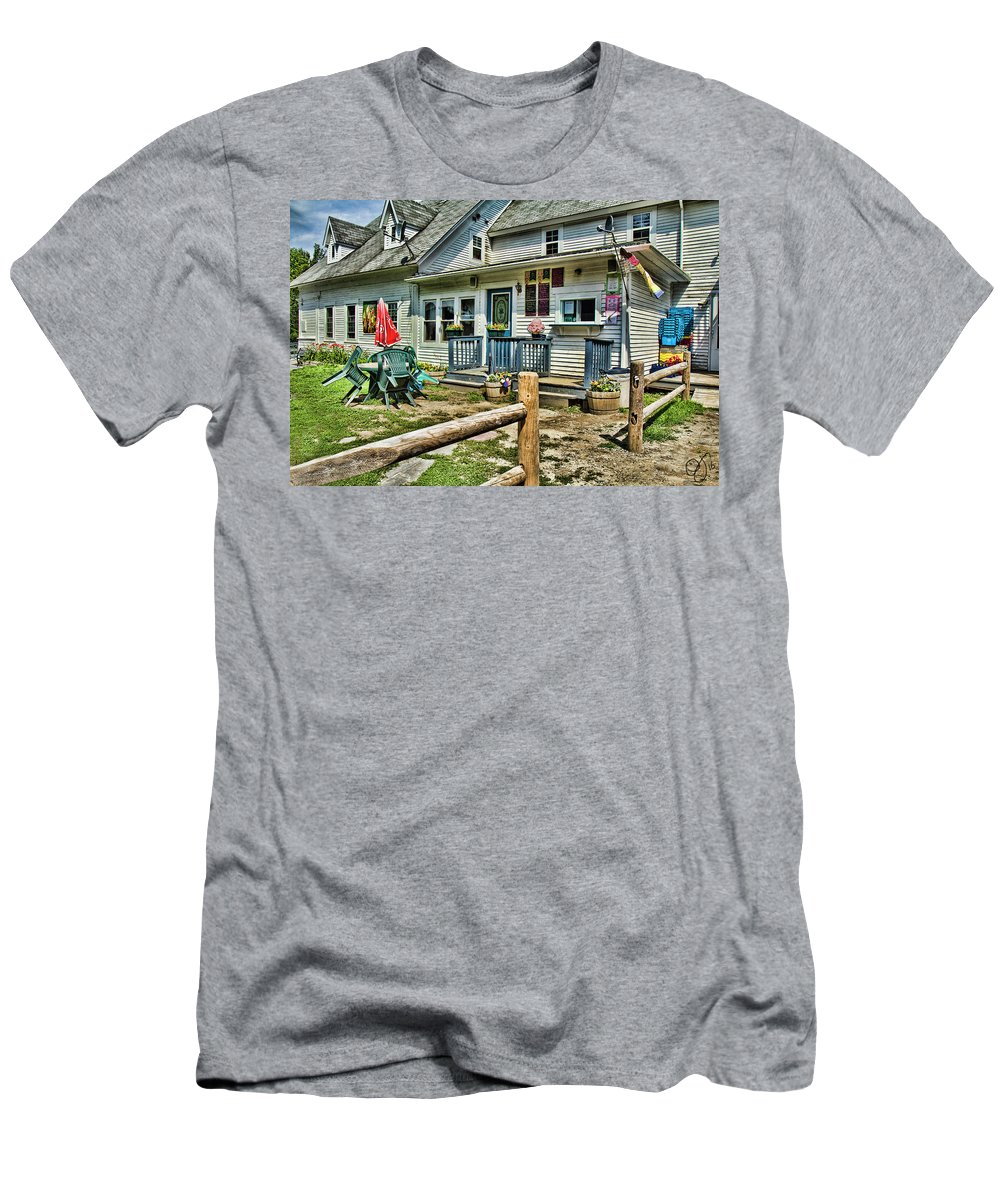 Westmore Men's T-Shirt (Athletic Fit) featuring the photograph The Ice Cream Stand by Rosemary Jardine