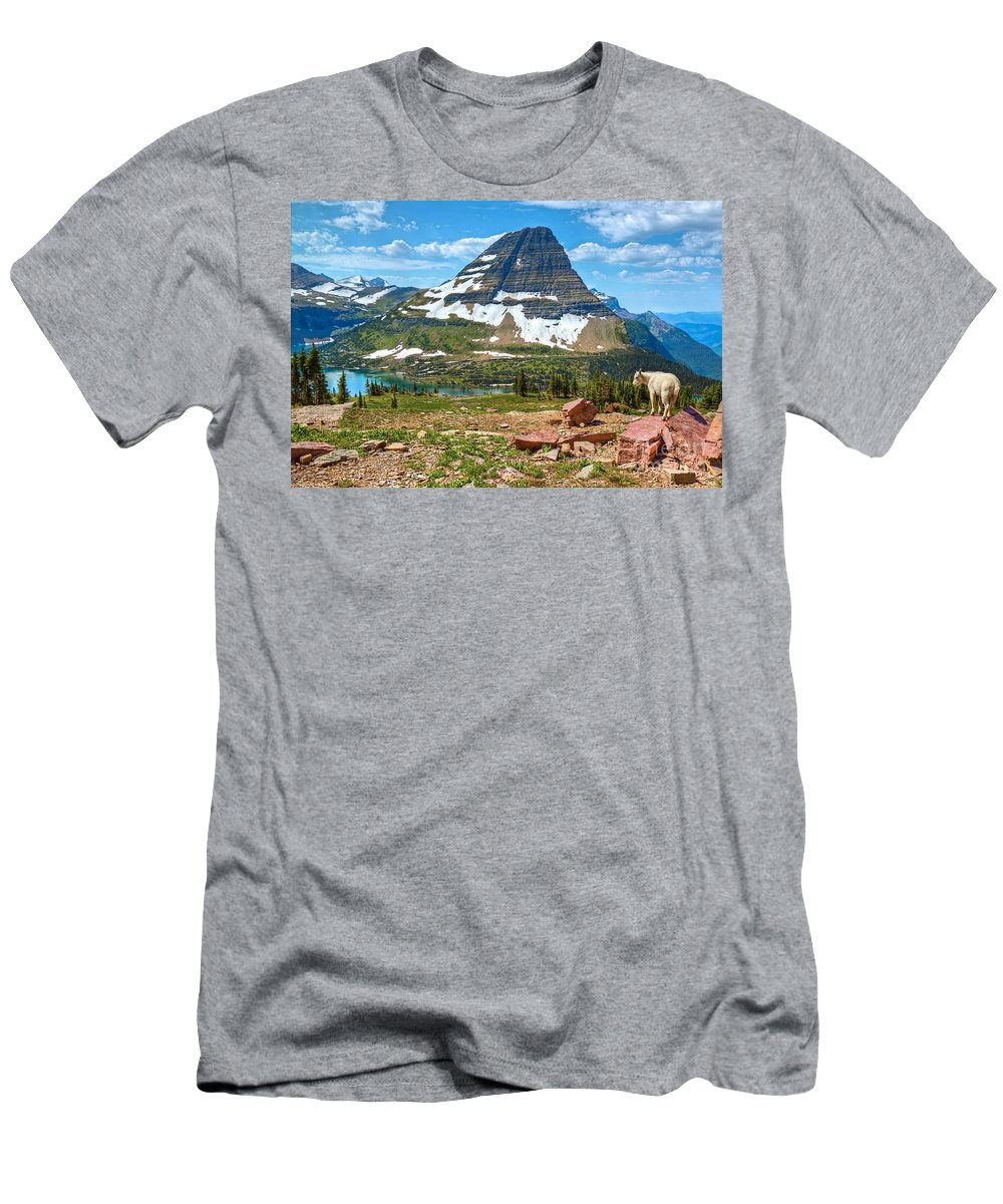 Kid Men's T-Shirt (Athletic Fit) featuring the photograph The Kid And The Bear by James Anderson