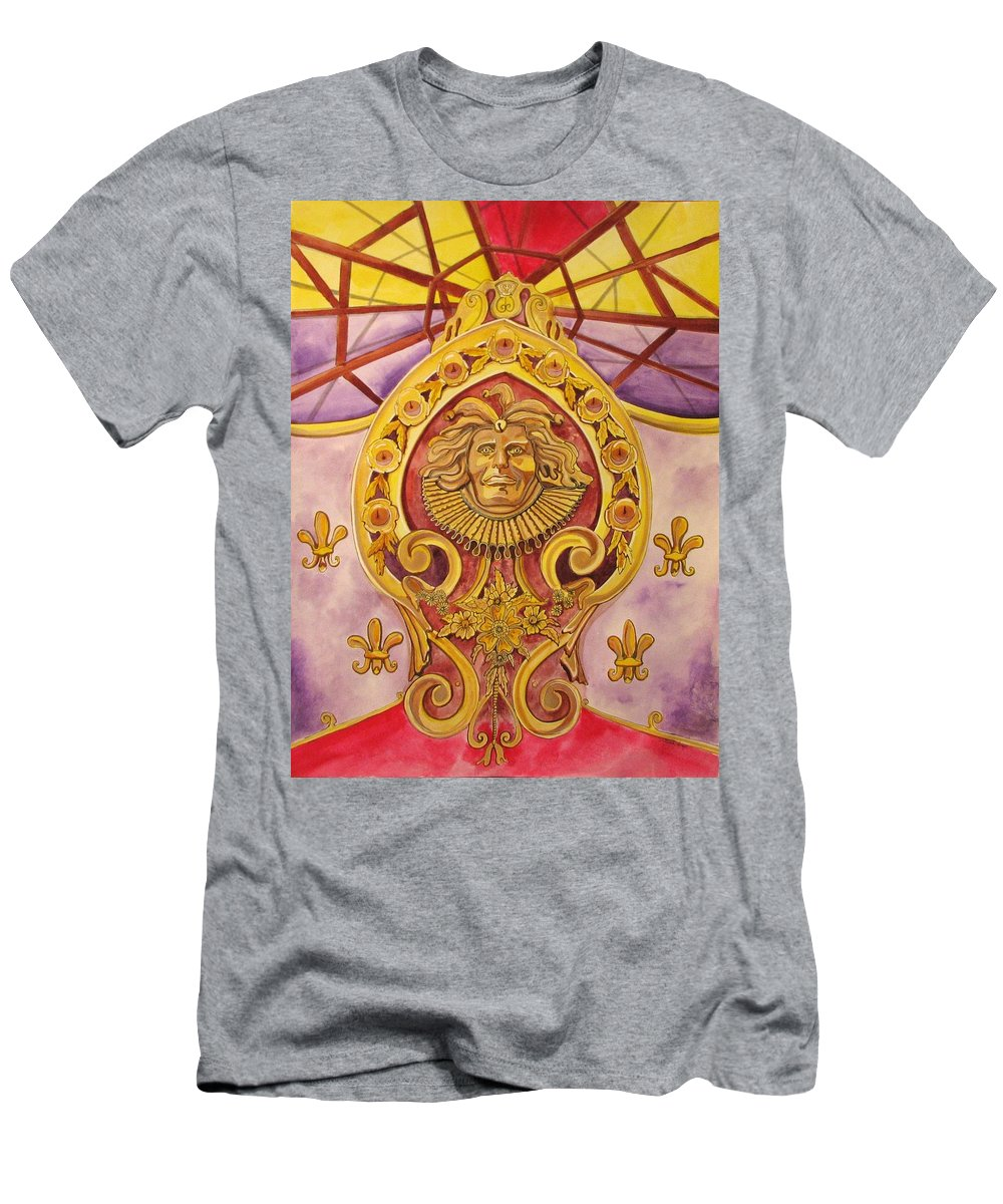 Asbury Art T-Shirt featuring the painting The King of the Carousel by Patricia Arroyo