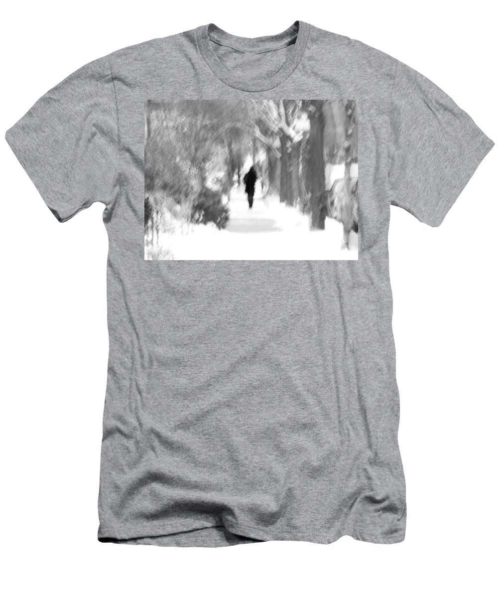Blur Men's T-Shirt (Athletic Fit) featuring the photograph The Long December by Dana DiPasquale