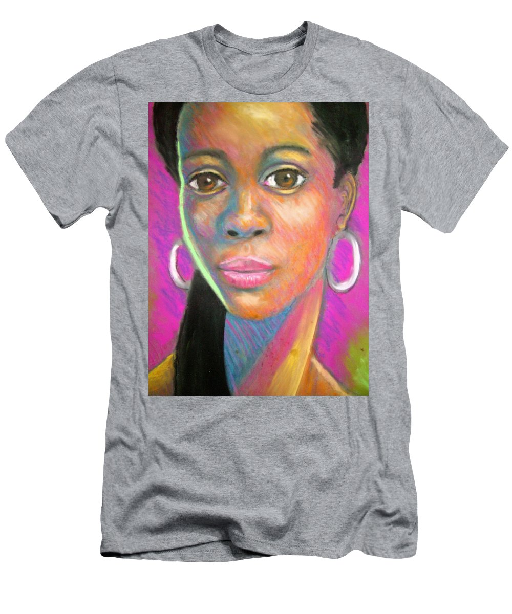 Portrait Men's T-Shirt (Athletic Fit) featuring the drawing The Look by Jan Gilmore