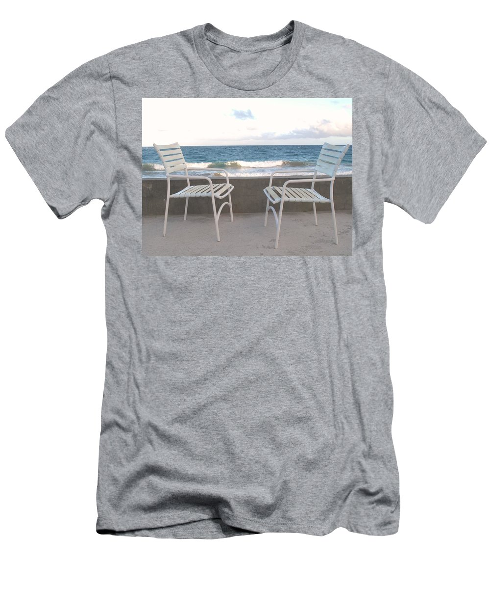 Seascape Men's T-Shirt (Athletic Fit) featuring the photograph The Meeting by Ian MacDonald