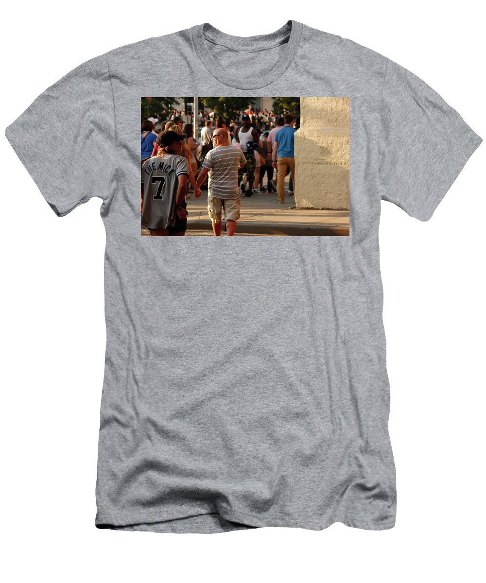 New York Men's T-Shirt (Athletic Fit) featuring the photograph The Mick by Nick Mattea