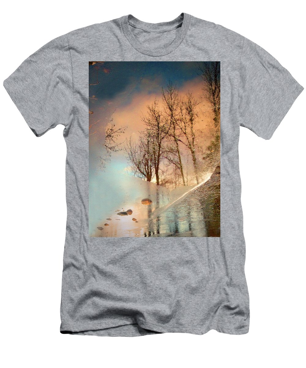 Ice Men's T-Shirt (Athletic Fit) featuring the photograph The Movement Of Ice by Tara Turner