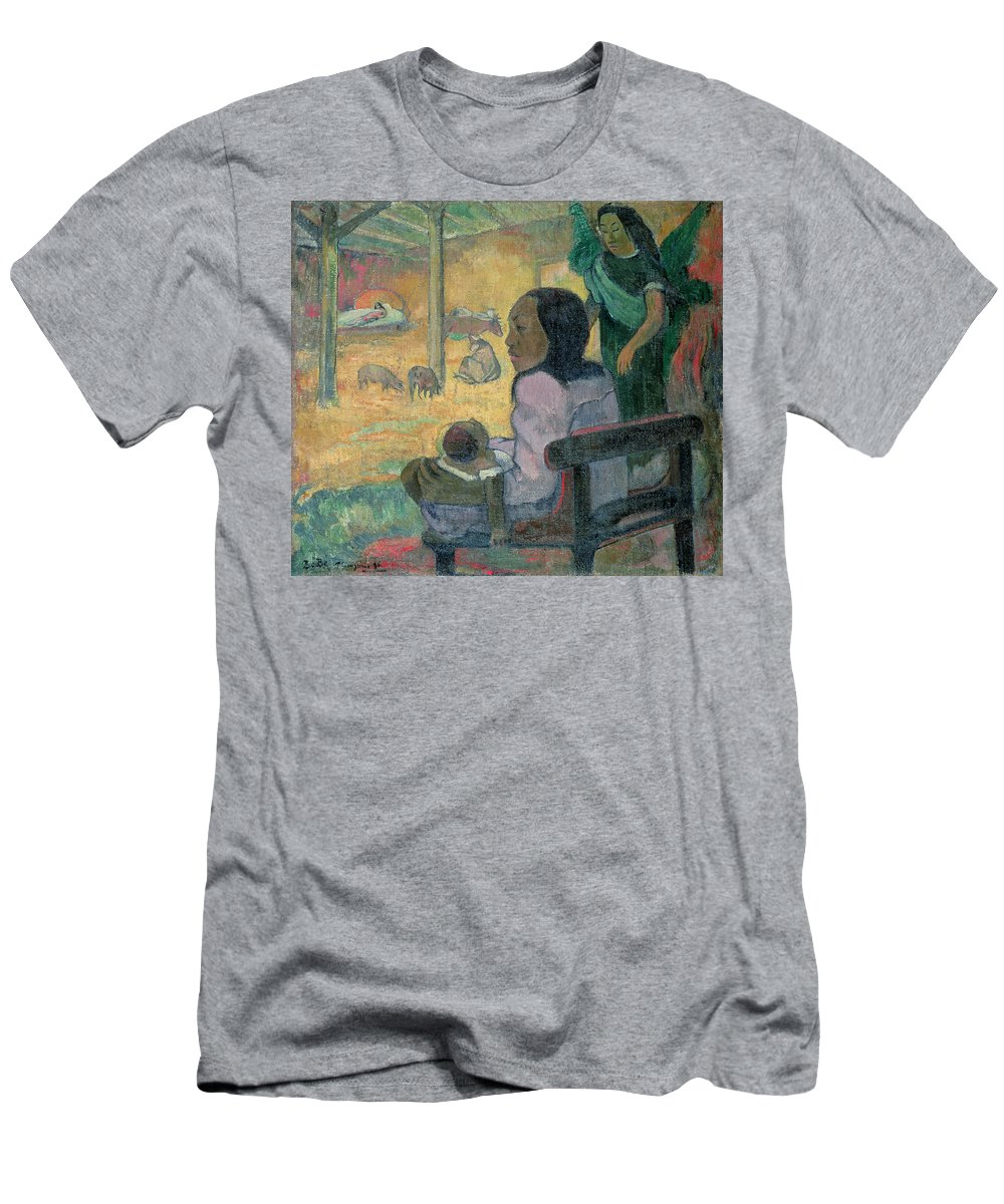 Be Be (the Nativity) Men's T-Shirt (Athletic Fit) featuring the painting The Nativity by Paul Gauguin