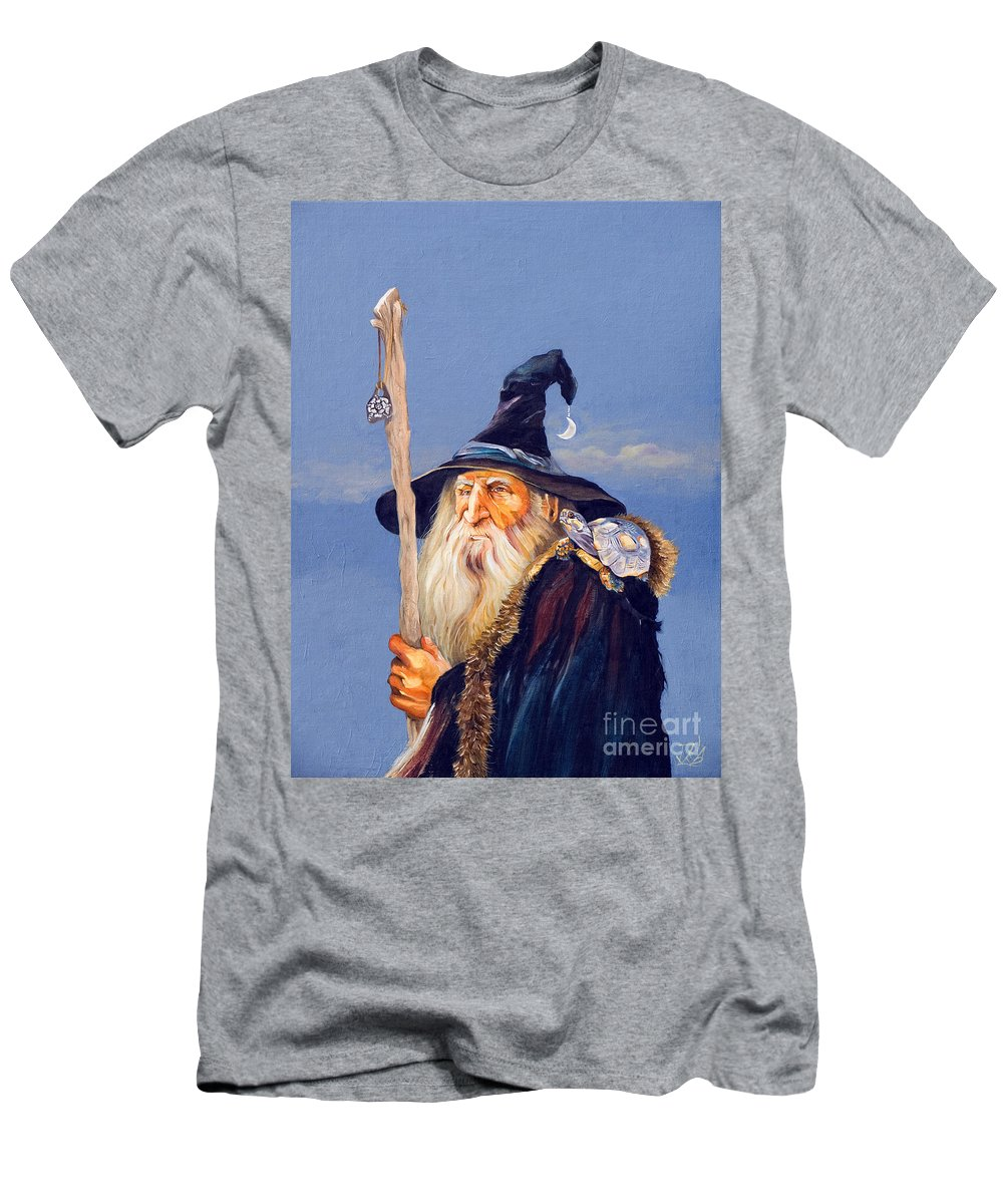 Wizard Men's T-Shirt (Athletic Fit) featuring the painting The Navigator by J W Baker
