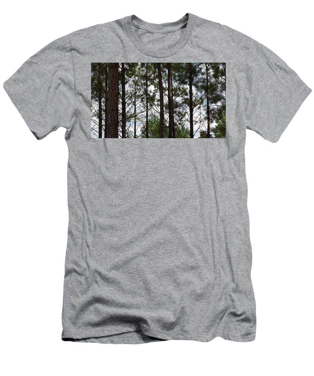 Trees Men's T-Shirt (Athletic Fit) featuring the photograph The Network by Laura Martin