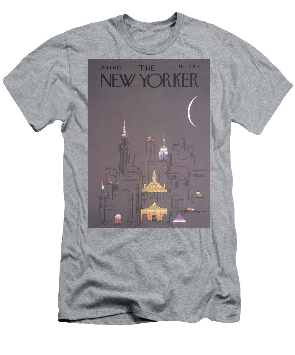 Urban T-Shirt featuring the drawing The New Yorker Cover - October 1st, 1979 by RO Blechman