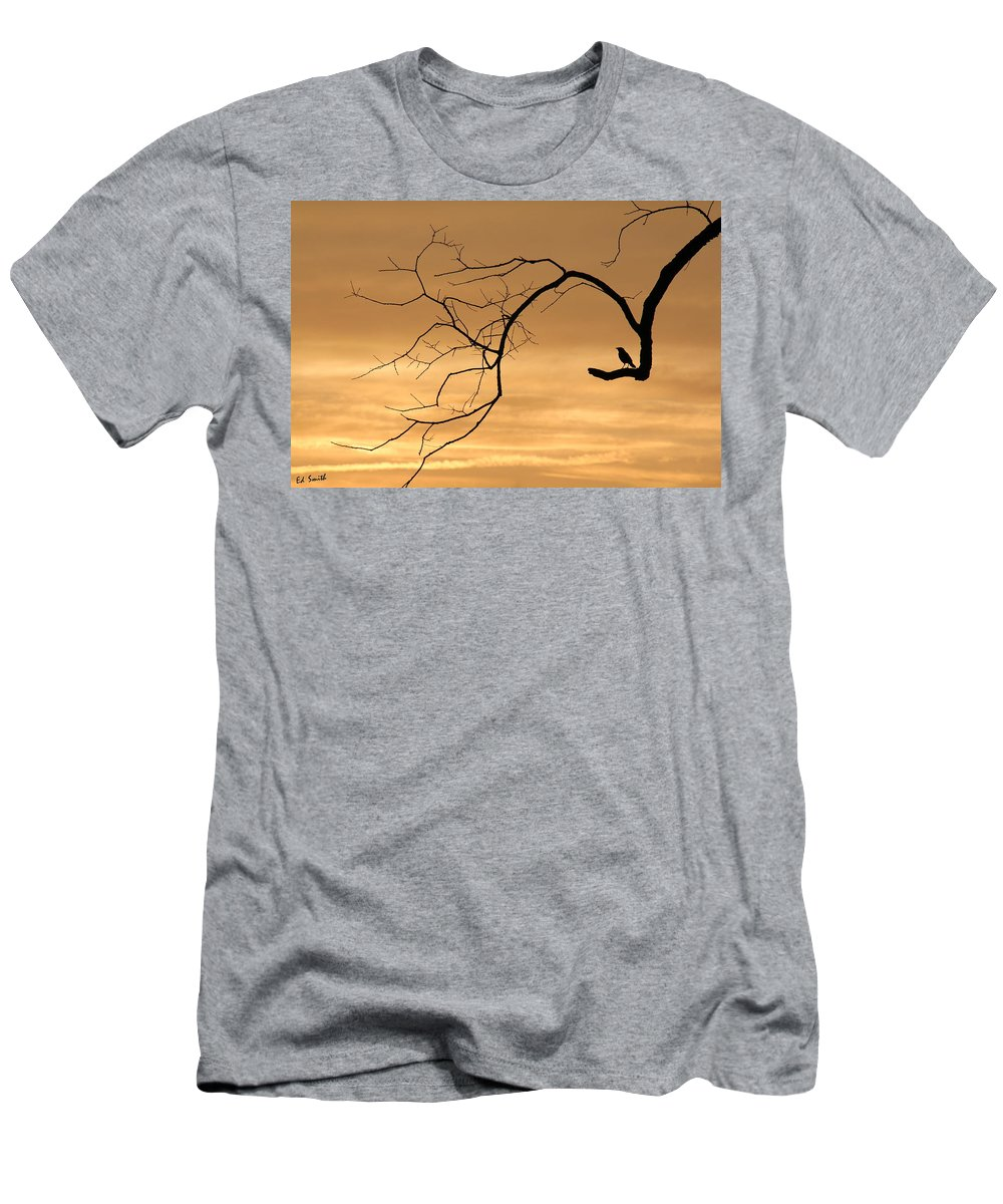 The Night Watchman Men's T-Shirt (Athletic Fit) featuring the photograph The Night Watchman by Ed Smith