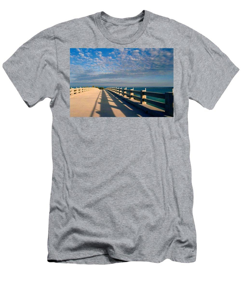 Bridges Men's T-Shirt (Athletic Fit) featuring the photograph The Old Bridge by Susanne Van Hulst