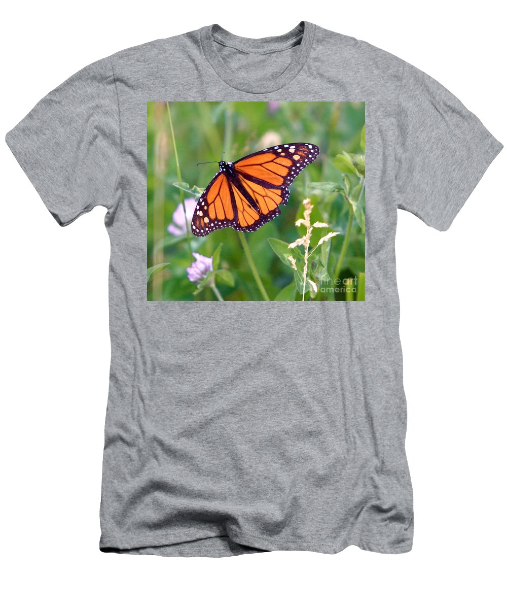 Butterfly Men's T-Shirt (Athletic Fit) featuring the photograph The Orange Butterfly by Robert Pearson