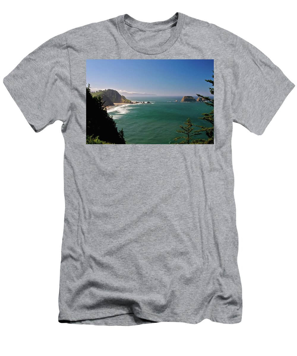 Oregon Men's T-Shirt (Athletic Fit) featuring the photograph The Oregon Coast by Albert Seger